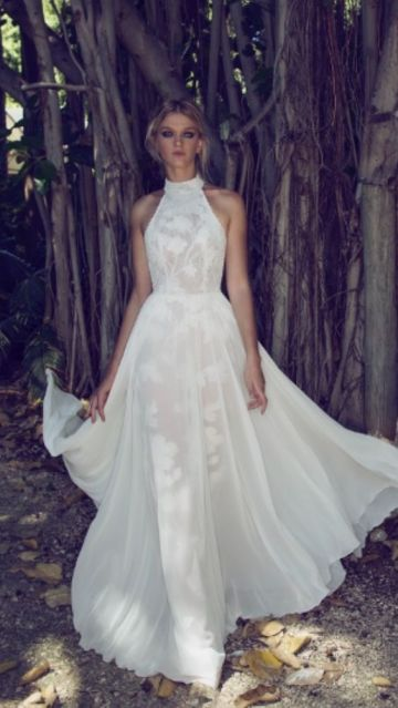 50 Simple Glam Victorian Neck Style Bridal Dresses Ideas 12