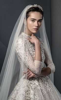 50 Simple Glam Victorian Neck Style Bridal Dresses Ideas 7