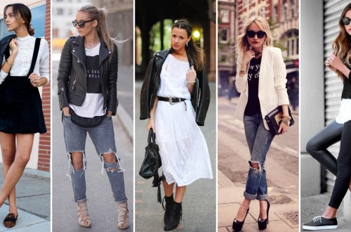50 Ways to Wear Perfect Black and White in Fashion Ideas