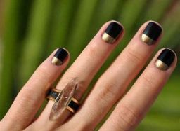 50 Glam Gold Girly Nail Art Looks Ideas 10