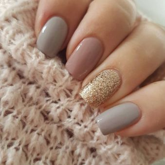 50 Glam Gold Girly Nail Art Looks Ideas 20
