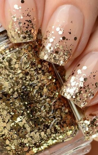 50 Glam Gold Girly Nail Art Looks Ideas 3