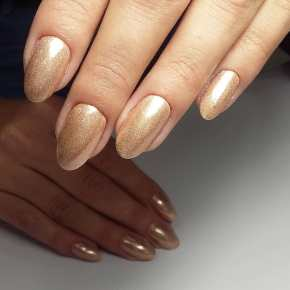 50 Glam Gold Girly Nail Art Looks Ideas 32