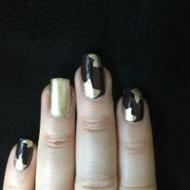 50 Glam Gold Girly Nail Art Looks Ideas 48