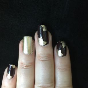 50 Glam Gold Girly Nail Art Looks Ideas 48