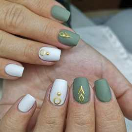 50 Glam Gold Girly Nail Art Looks Ideas 51
