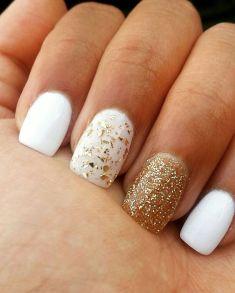 50 Glam Gold Girly Nail Art Looks Ideas 8
