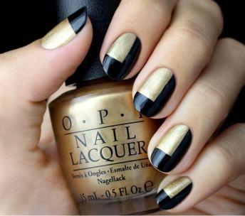 50 Glam Gold Girly Nail Art Looks Ideas 9