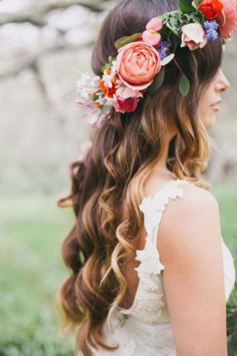 50 Natural Loose Hairstyle Looks for Brides Ideas 50