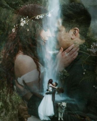 50 Romantic Wedding Double Exposure Photos Ideas 10