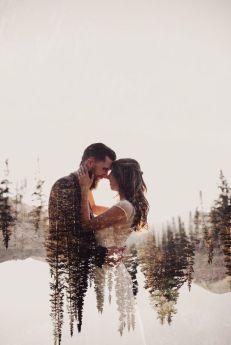 50 Romantic Wedding Double Exposure Photos Ideas 11