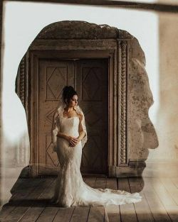 50 Romantic Wedding Double Exposure Photos Ideas 18