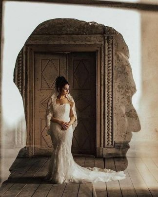 50 Romantic Wedding Double Exposure Photos Ideas 18