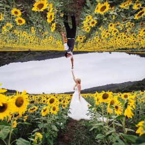 50 Romantic Wedding Double Exposure Photos Ideas 23