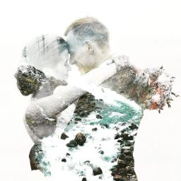 50 Romantic Wedding Double Exposure Photos Ideas 30