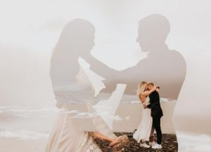 50 Romantic Wedding Double Exposure Photos Ideas 33