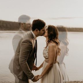 50 Romantic Wedding Double Exposure Photos Ideas 45