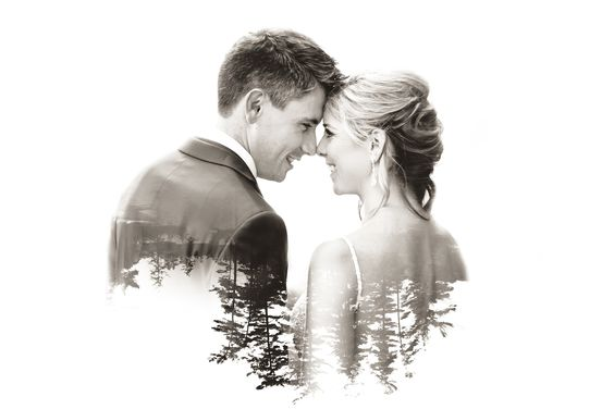 50 Romantic Wedding Double Exposure Photos Ideas 46