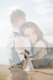 50 Romantic Wedding Double Exposure Photos Ideas 8