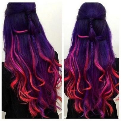 50 Best Peek A Boo Hair Color Ideas 31