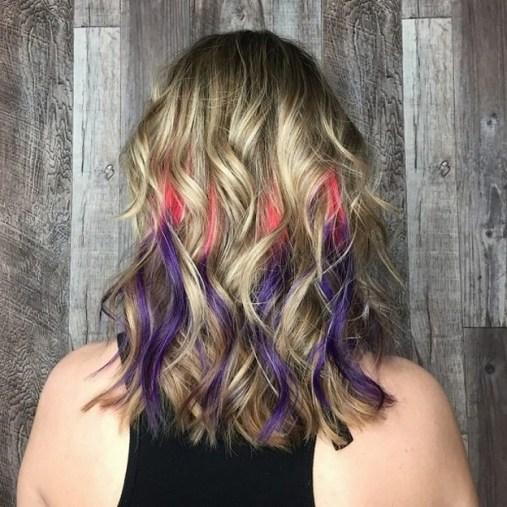 50 Best Peek A Boo Hair Color Ideas 45