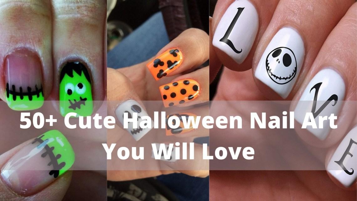 50 Cute Halloween Nail Art You Will Love 63
