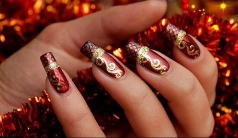 50 Lovely Chrismas Nail Art You Need to 19