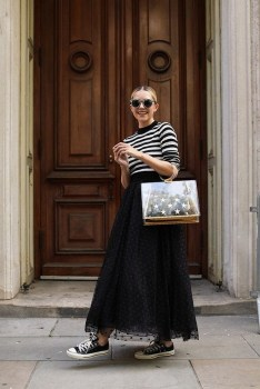 40 Simple Glam Black Tulle Skirt Outfits Ideas 1