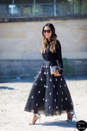 40 Simple Glam Black Tulle Skirt Outfits Ideas 18