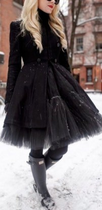 40 Simple Glam Black Tulle Skirt Outfits Ideas 29