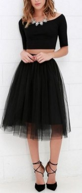 40 Simple Glam Black Tulle Skirt Outfits Ideas 35