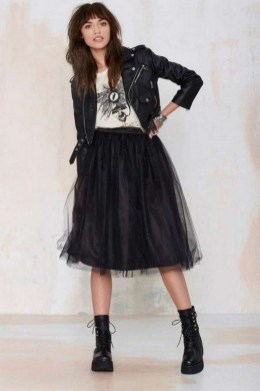 40 Simple Glam Black Tulle Skirt Outfits Ideas 36