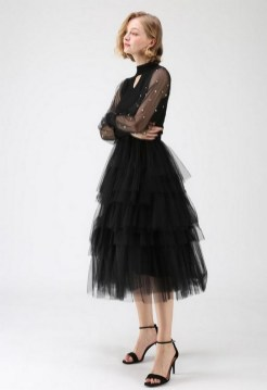 40 Simple Glam Black Tulle Skirt Outfits Ideas 43