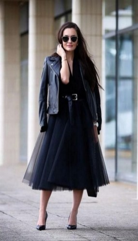 40 Simple Glam Black Tulle Skirt Outfits Ideas 47
