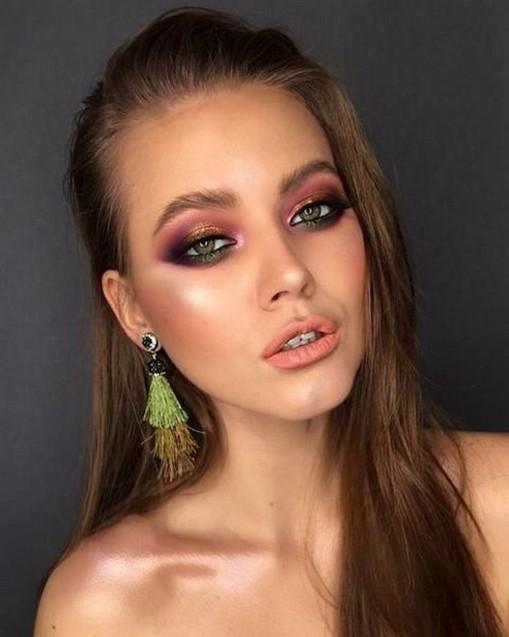 49 Ideas Glam Valentines Night Makeup Look 12