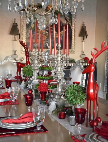 50 How to Arrange a Dining Table for Christmas Occasion 22