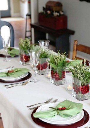 50 How to Arrange a Dining Table for Christmas Occasion 34
