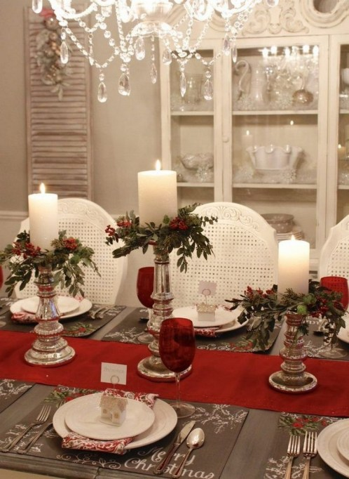 50 How to Arrange a Dining Table for Christmas Occasion 7