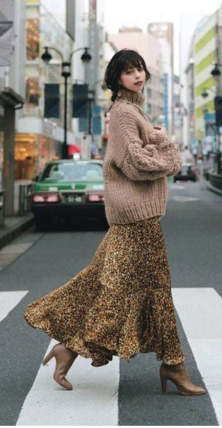 50 Stylish and Comfy Winter Dresses Ideas 14