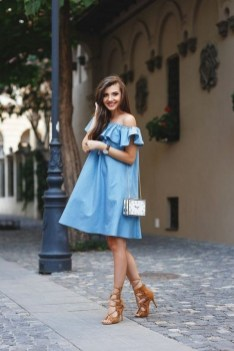 55 Casual Denim Dresses for Outing Ideas 16