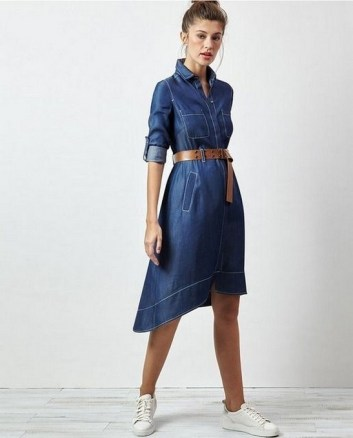 55 Casual Denim Dresses for Outing Ideas 19