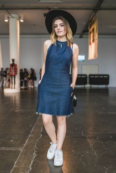 55 Casual Denim Dresses for Outing Ideas 22