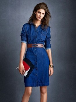 55 Casual Denim Dresses for Outing Ideas 34