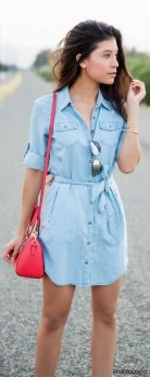 55 Casual Denim Dresses for Outing Ideas 41