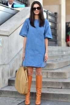 55 Casual Denim Dresses for Outing Ideas 43