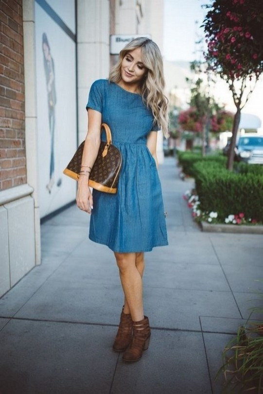 55 Casual Denim Dresses for Outing Ideas 52