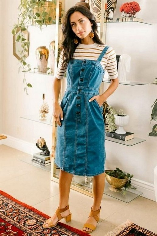 55 Casual Denim Dresses for Outing Ideas 55