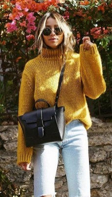 60 Adorable Yellow Outfit for Winter 24