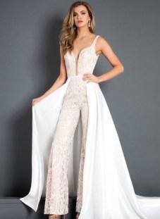 80 Simple and Glam Jumpsuit Wedding Dresses Ideas 10