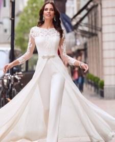 80 Simple and Glam Jumpsuit Wedding Dresses Ideas 12